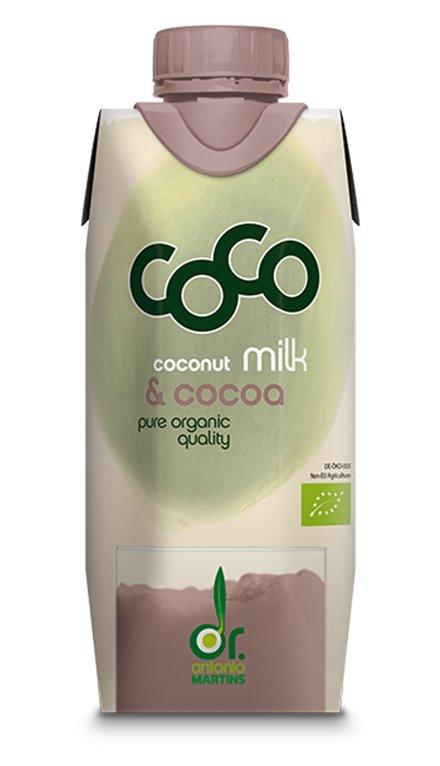 Leche de Coco con Cacao Bio 330ml