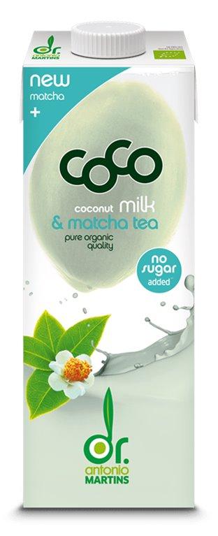 Leche de Coco con Té Matcha Bio 1L, 1 ud