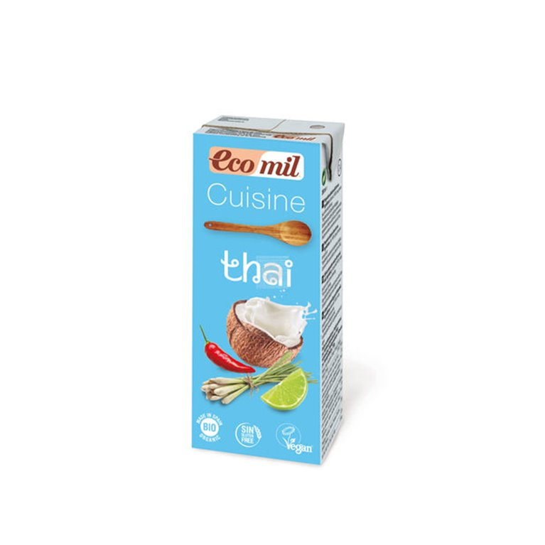Leche de coco ecológica con condimentos thai 200ml