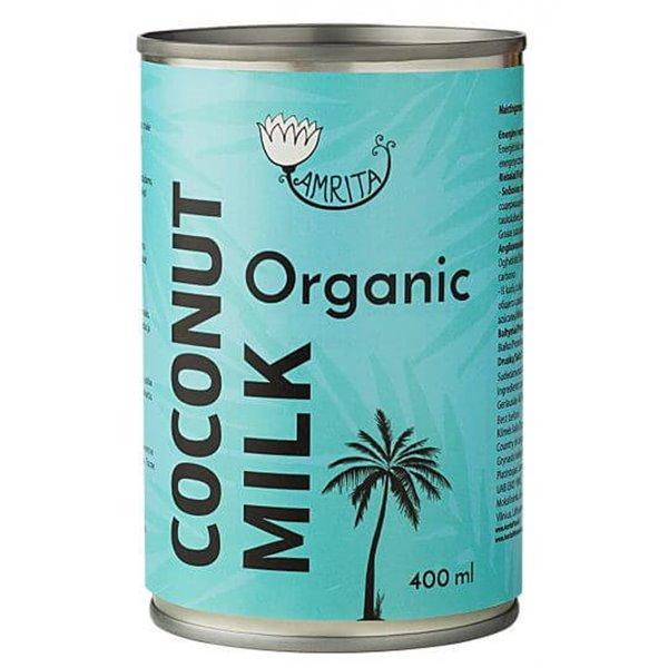 Leche de coco orgánica 400 ml - Amrita
