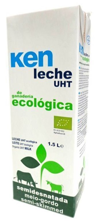 Leche Ecológica semidesnatada Uht