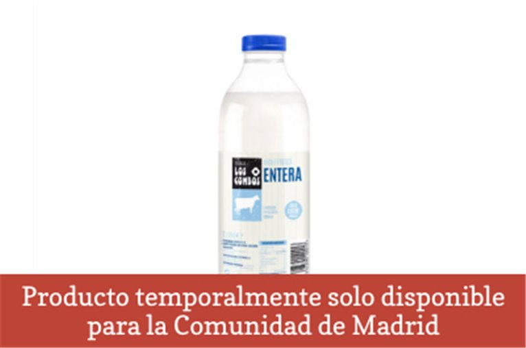 Fresh whole milk (Bottle - 1l)