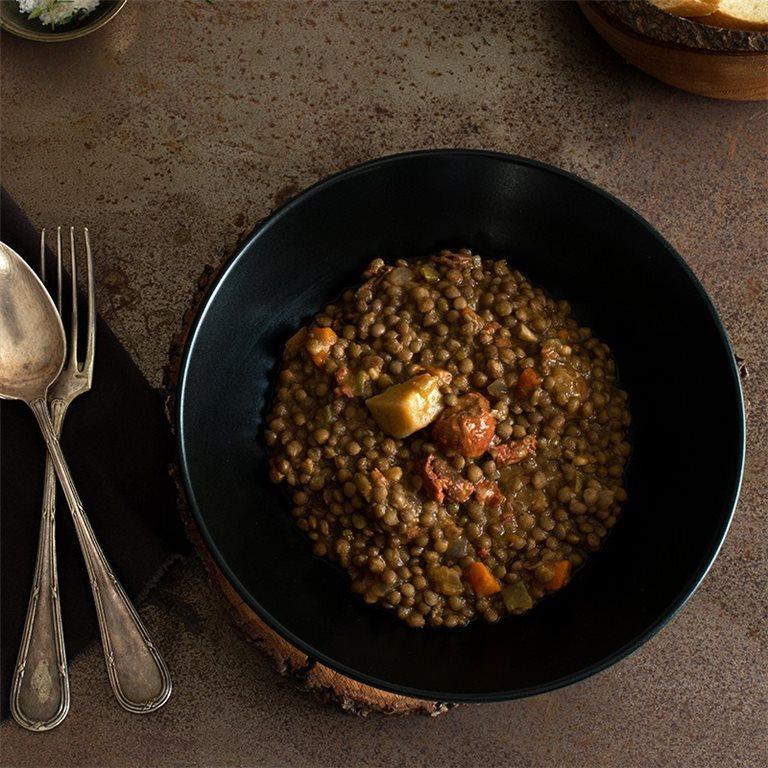 Lentejas estofadas con chorizo ibérico - 400 g, 1 ud