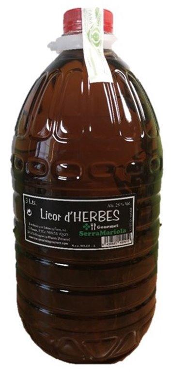 LIQUEUR D,HERBES 3 L