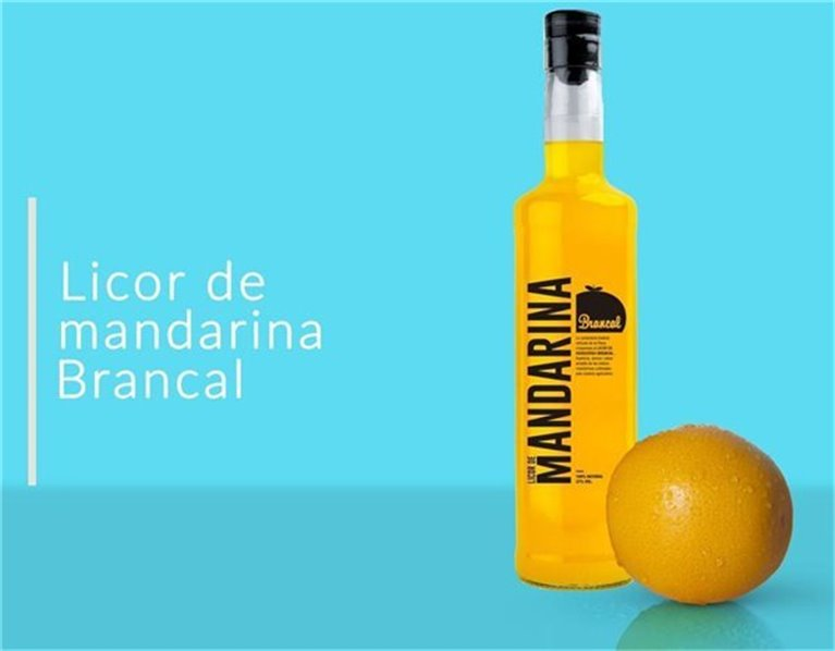 LICOR DE MANDARINA BRANCAL, 0,50 l