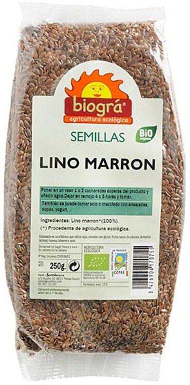 Semillas de Lino Marrón Bio 250g, 1 ud