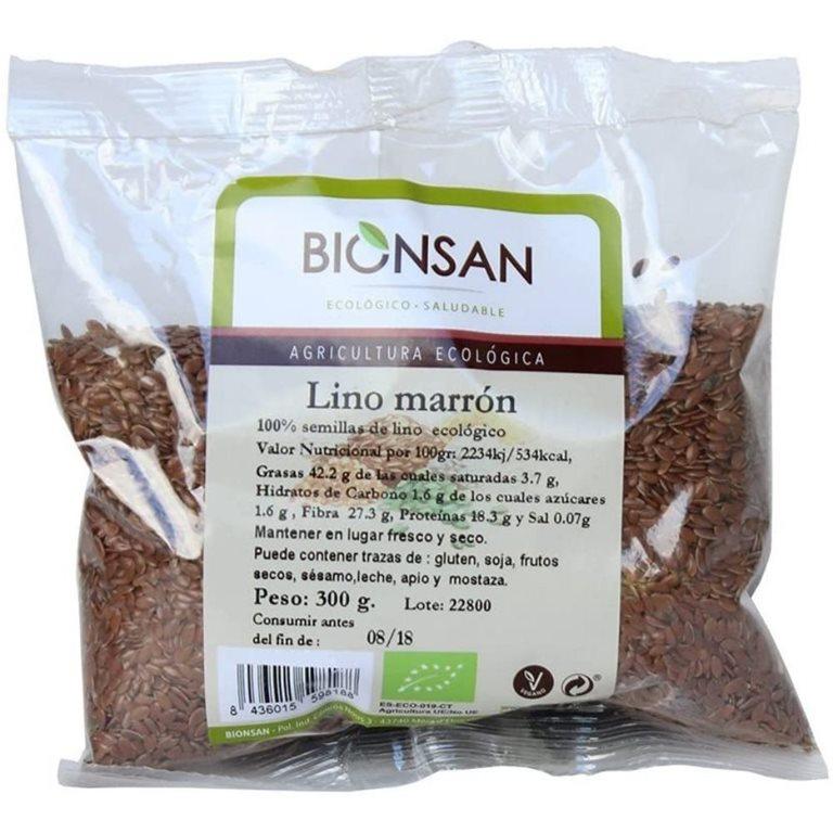 Organic brown linen -300gr