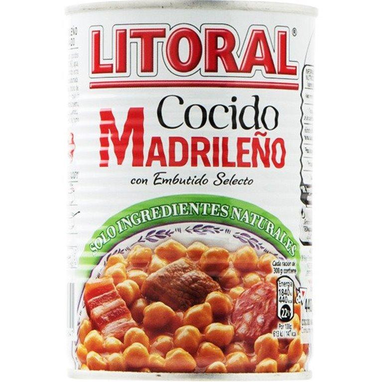 Litoral - Codido Madrileño (lata de 440 gr, solo ingredientes naturales), 1 ud