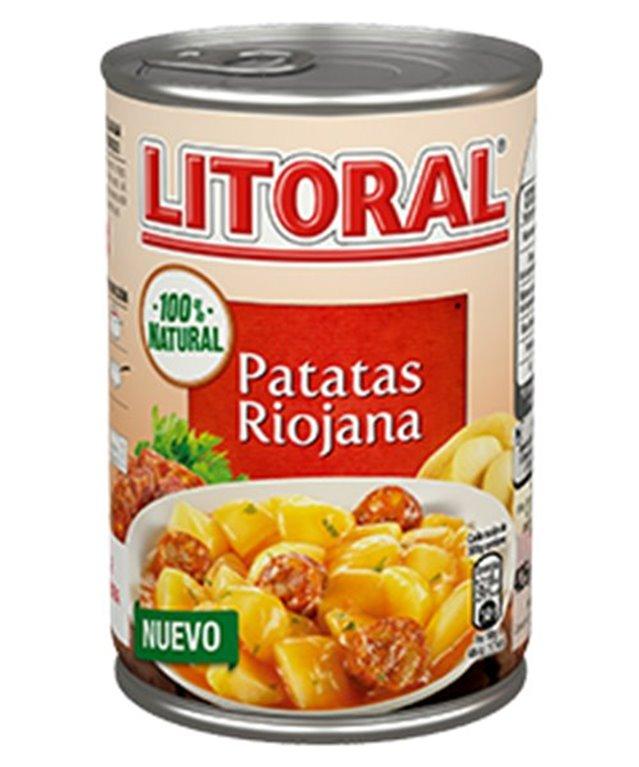 Litoral - Patatas Riojana (lata de 440 gr, solo ingredientes naturales), 1 ud