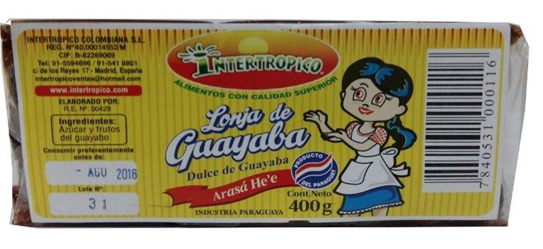 LONJA DE GUAYABA X 400G INTERT.