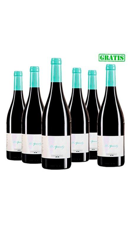 Lote 5 Botellas Vino Tinto El Aprendiz + 1 de Regalo, 1 ud