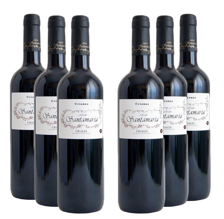 Lote 6 Botellas Vino Tinto Crianza Alfredo Santamaria, 1 ud
