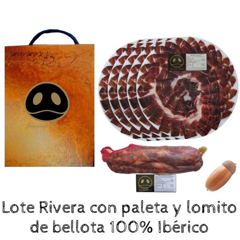 Lot of 100% Iberian acorn with shoulder + Lomito de presa Rivera