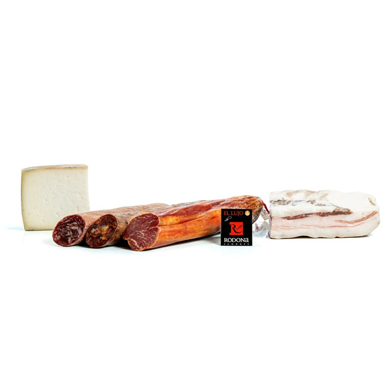 Lot of Iberian acorn and cheese Sierra Nevada