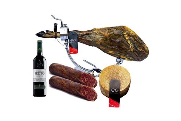 Lote de Jamón Ibérico de Bellota, Lomo Ibérico de Bellota, queso artesano y Ribera del Duero
