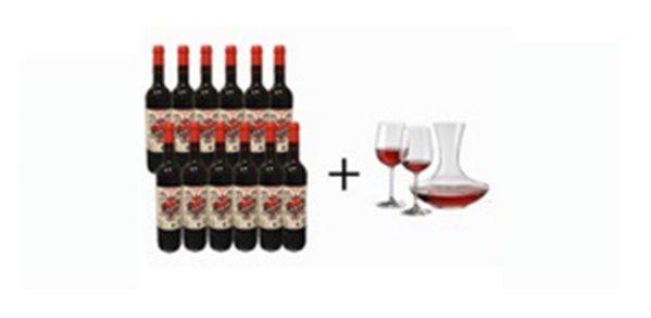 Lote de Vinos Amor de Tinto + Decantador Y Dos Copas Gratis