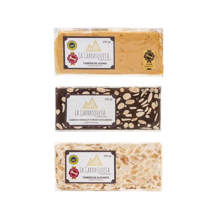Lote turrones Calidad Suprema (Jijona + Alicante + Chocolate)