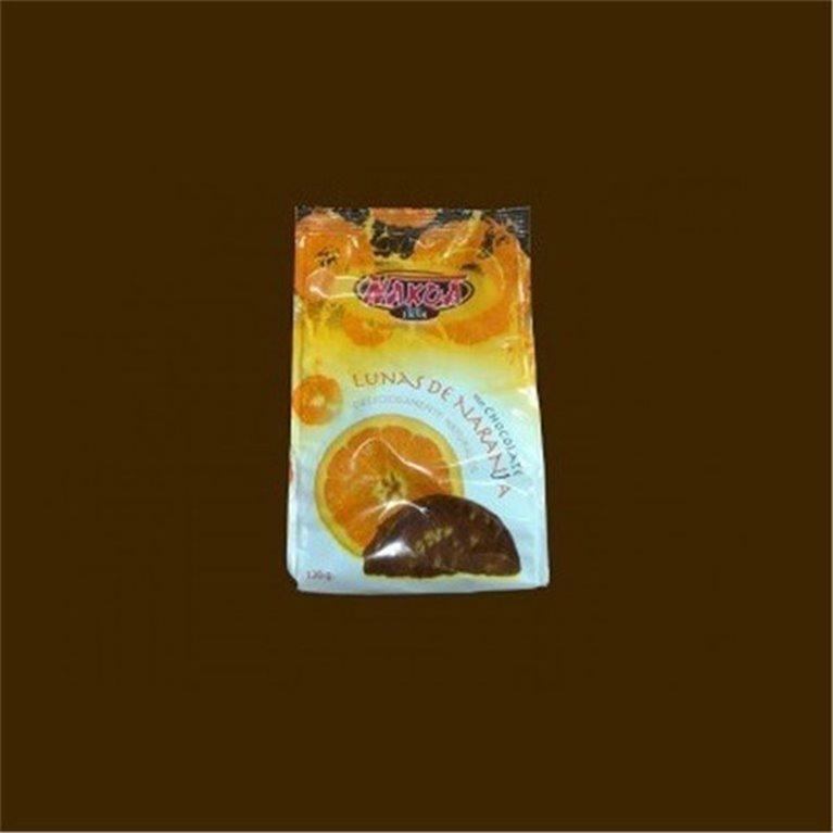 Lunas de naranja con chocolate 250 gr. Nakoa