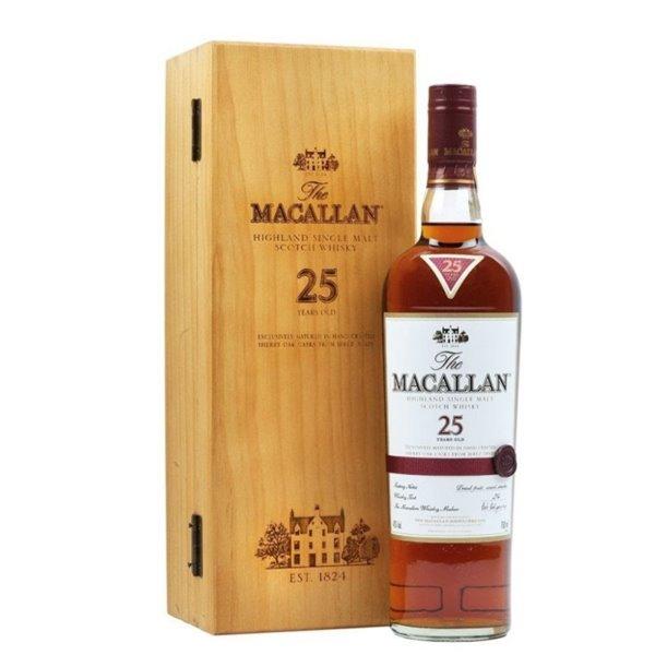 MACALLAN 25 YO SHERRY OAK 0,70 L. + ESTUCHE