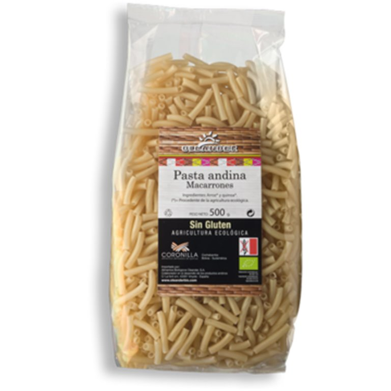 Macarrones Andinos Sin Gluten Bio 500g, 1 ud