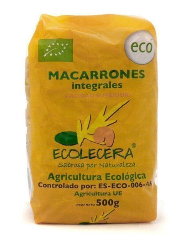 Macarrones De Trigo integral Ecológicos, 500 gr