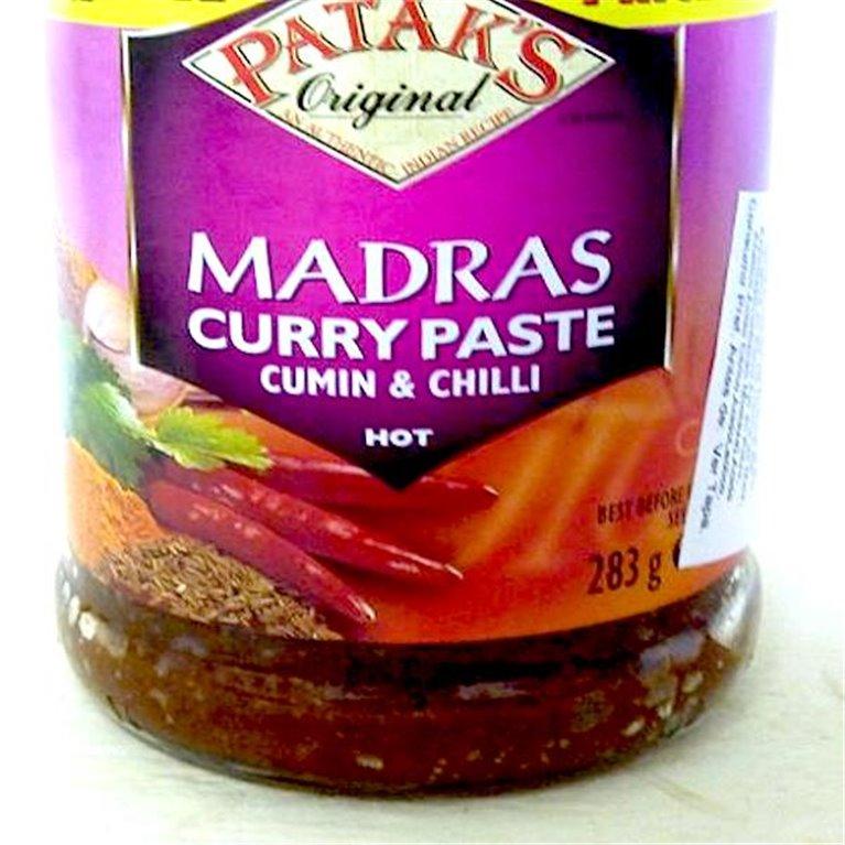 Madras pasta de curry Patak's