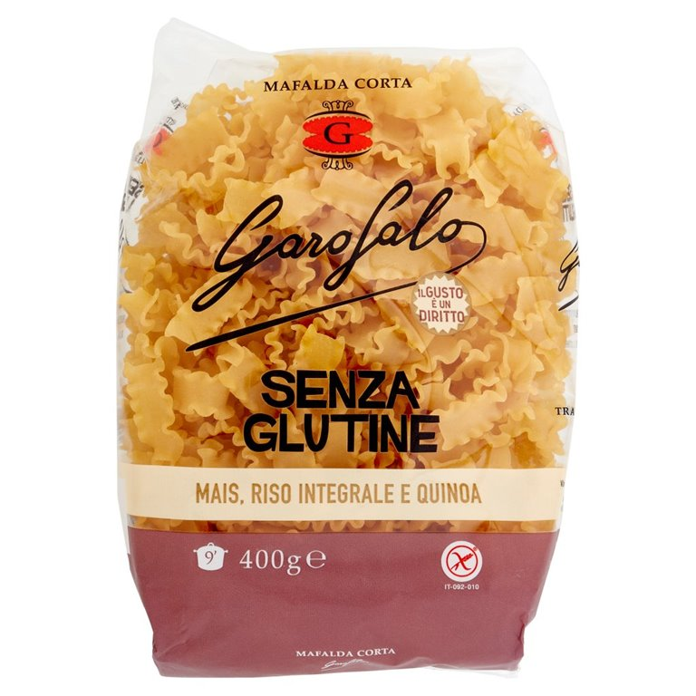 Mafalda Corta de Maíz con Arroz Integral y Quinoa Sin Gluten 400g