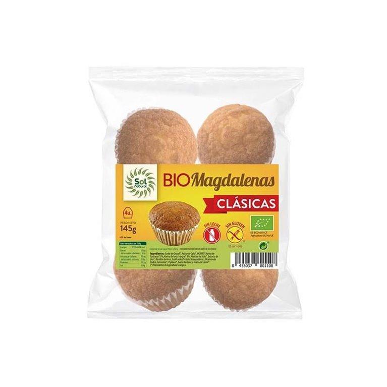 Magdalenas Clásicas Sin Gluten Bio 145g