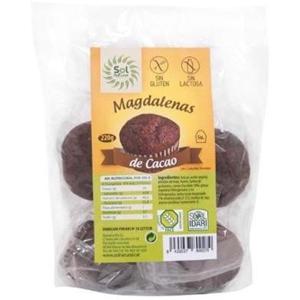 Magdalenas de Cacao Sin Gluten 220g