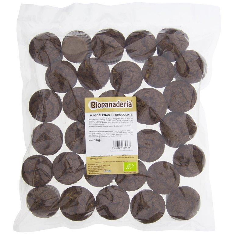 Magdalenas de Chocolate Ecológicas 1kg, 1 ud