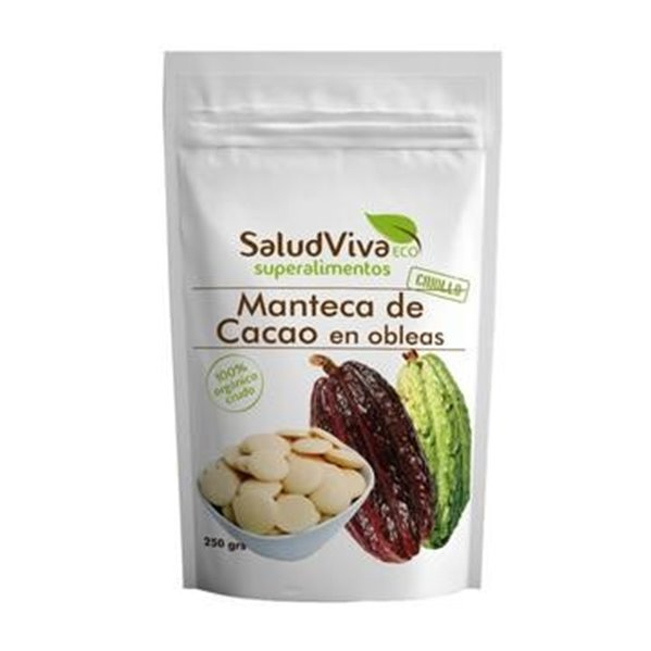 Manteca de Cacao Bio en Obleas Bio 250g