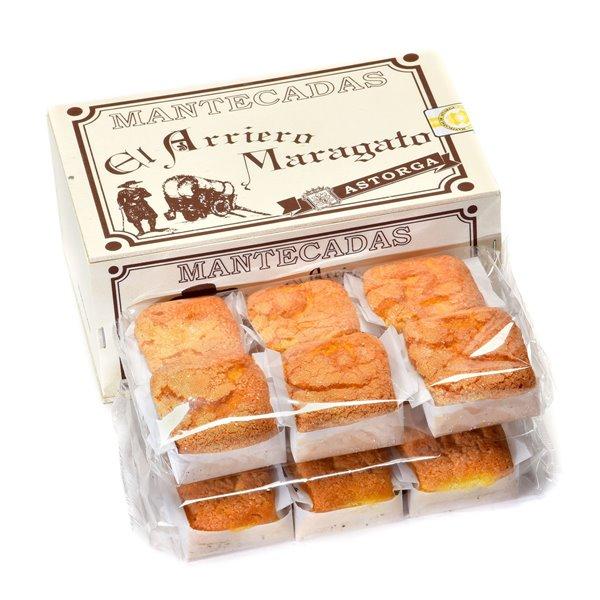 Mantecadas artesanales de Astorga  caja madera 12 unidades. ARRIERO MARAGATO