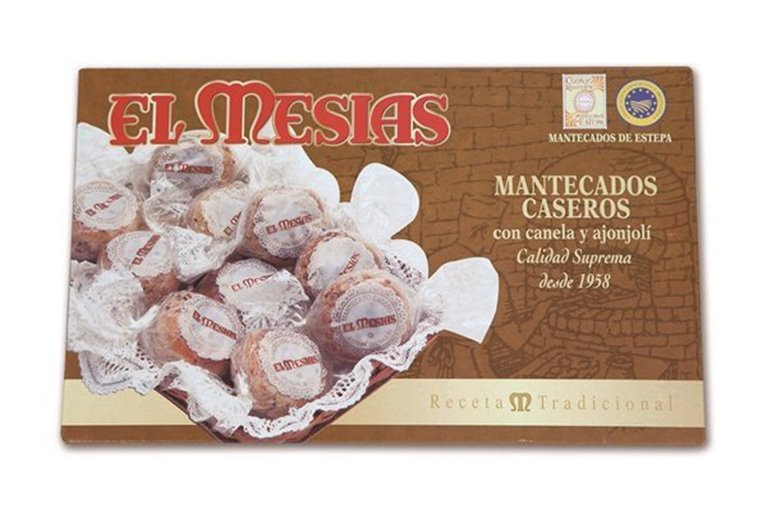 Mantecados Caseros de Canela y ajonjolí IGP (500 gr)