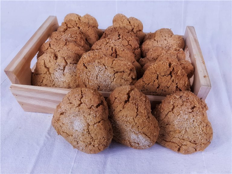 Mantecados de cacahuete