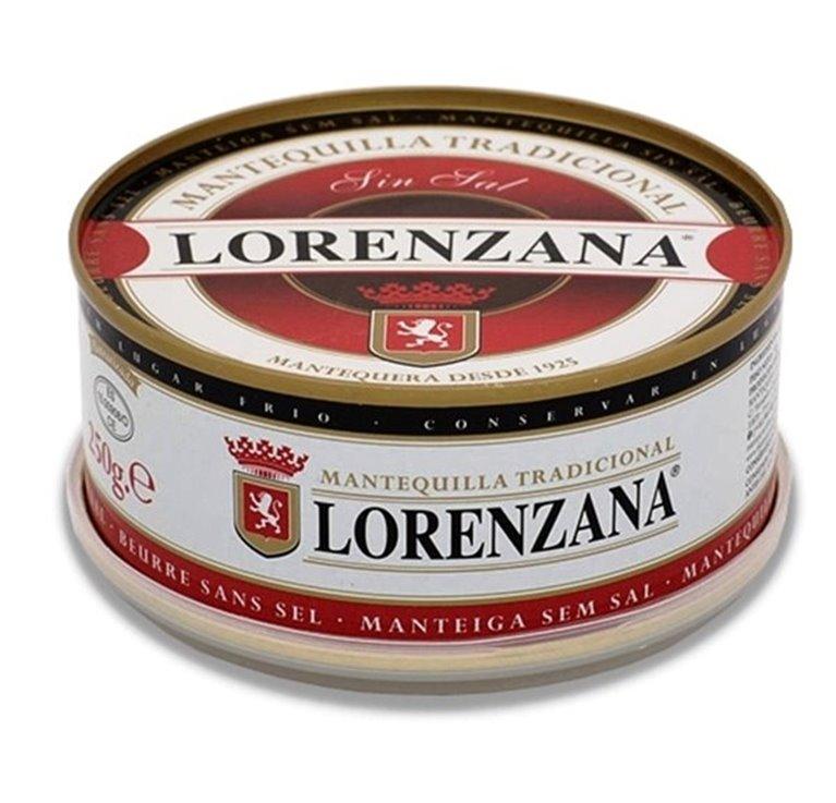 Mantequilla sin sal Lorenzana (250 gr), 1 ud
