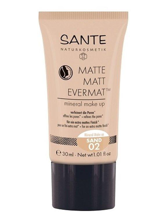 Maquillaje Fluido Mate 02 Evermat Sante, 1 ud