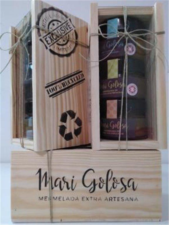 Marigolosa Pack caja madera, 1 ud