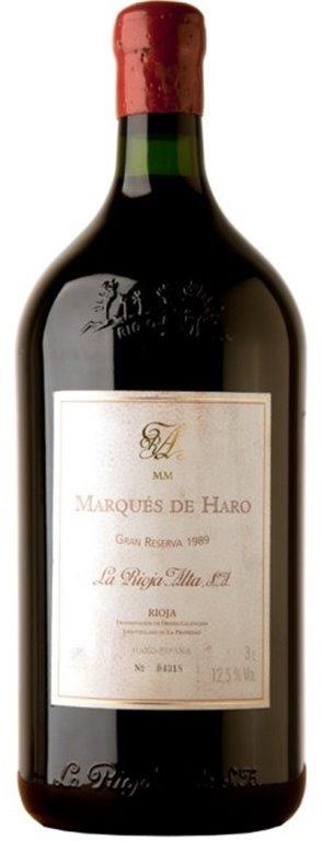 Marques de Haro Gran Reserva 1989 3 Litros, 6 ud