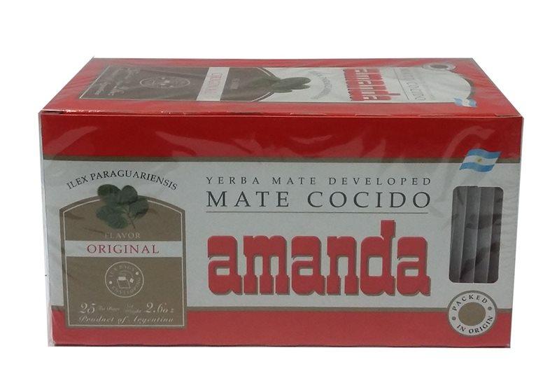 MATE COCIDO AMANDA 25 UNID