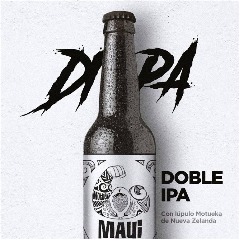 Maui Doble IPA Jaira, cerveza artesana canaria.