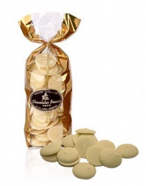 Medallones de chocolate blanco Brescó