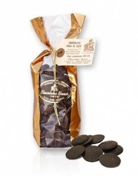 Medallones de chocolate negro Brescó