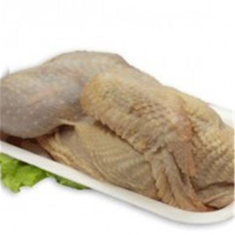 Medio pollo empaquetado al vacio
