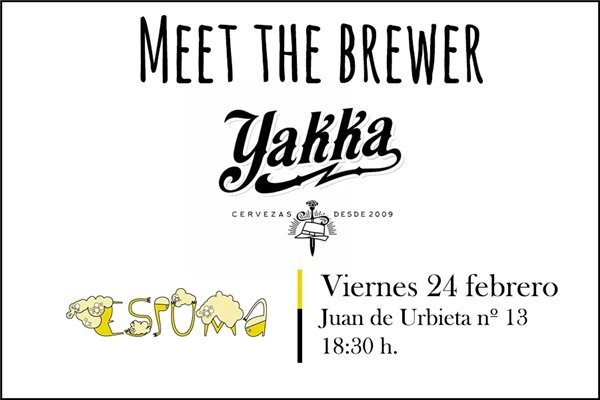 Meet the Brewer Cervezas Yakka – 24 de febrero