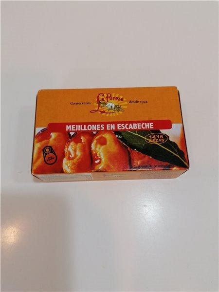 Mejillones en Escabeche 14/16 piez.
