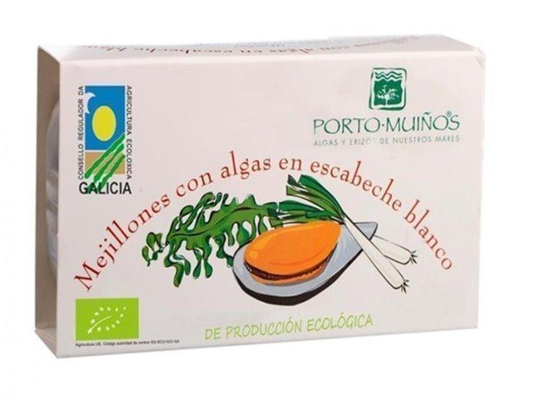 Mejillones en escabeche blanco y wakame, 80 gr
