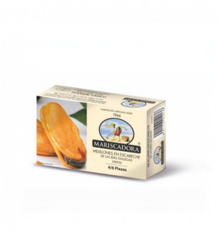 Mejillones fritos en escabeche 4/6 Piezas Mariscadora