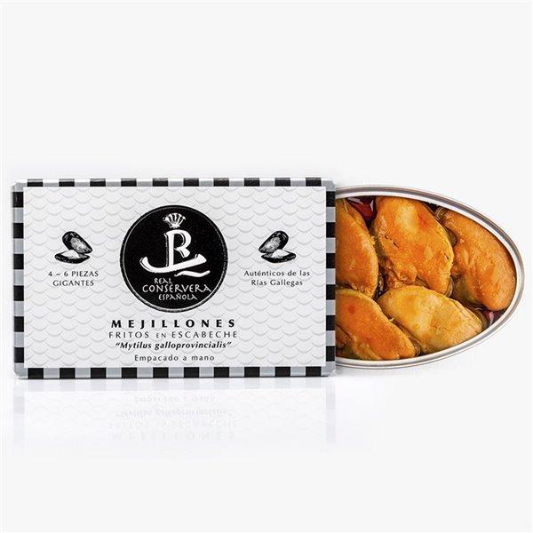 Mejillones Fritos En Escabeche 4/6 Real Conservera Española 115gr.