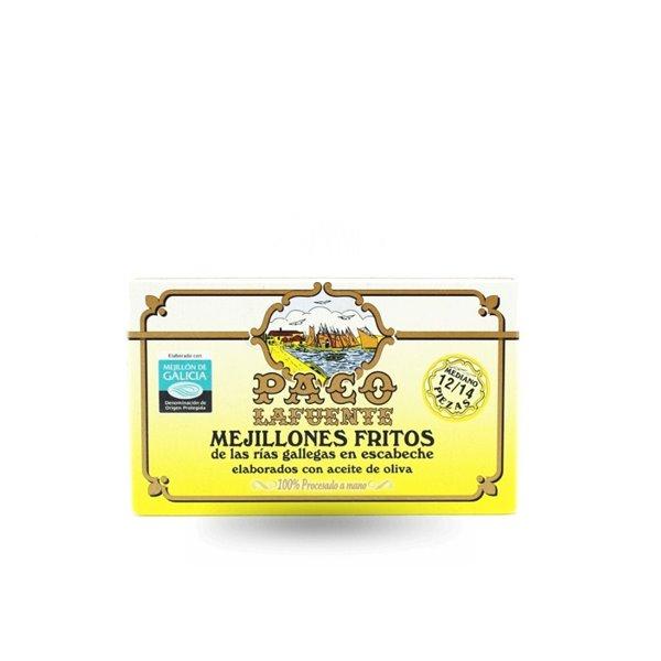 Mejillones Fritos en Escabeche Paco Lafuente 12/14 Piezas