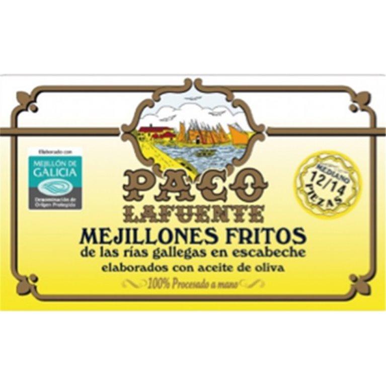 Mejillones Fritos en Escabeche Paco Lafuente 12/14 Piezas, 1 ud
